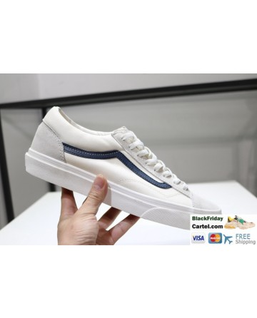 Vans Style 36 Dress Blue & White Navy Suede Canvas Classic Sneakers