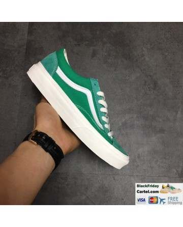 Vans Style 36 Dress Green Navy Suede Canvas Classic Sneakers