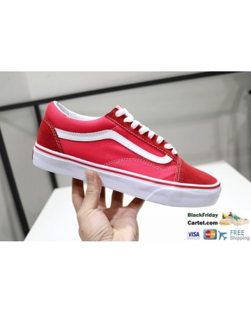 Vans Style 36 Dress Red Navy Suede Canvas Classic Sneakers