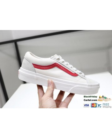 Vans Style 36 Dress Red & White Navy Suede Canvas Classic Sneakers