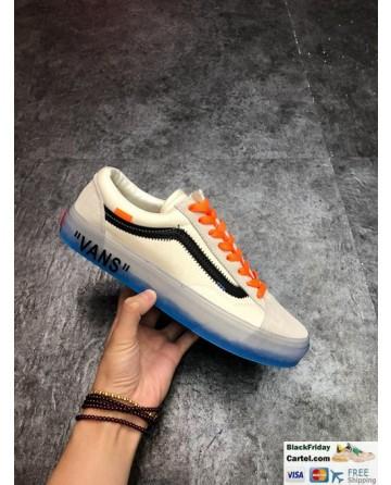 Vans Style 36 Off the Wall X Off White Custom Old Skool Orange Shoelace Sneakers