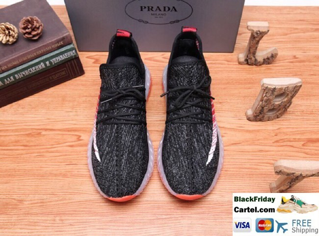 High Quality Prada 2019 Summer Explosion Men's Black Casual Shoes