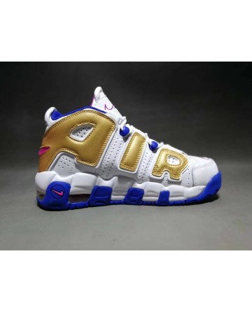 Nike Air More Uptempo X  LV Supreme White&Gold Shoes