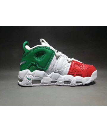 Nike Air More Uptempo X  LV Supreme Red&White&Green Shoes