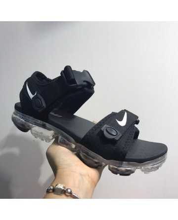 Replica Nike Air VaporMax Black Sandals With White Ground