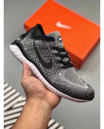 Replica Nike Free Flyknit Dark Grey Running Shoes