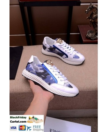Hight Quality Versace 2019 New Mens Blue Casual Shoes