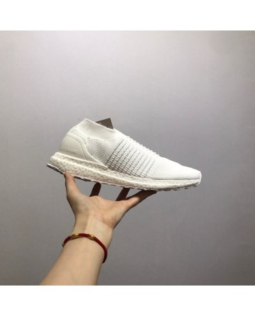 Adidas Ultra Boost Laceless Running Shoes White