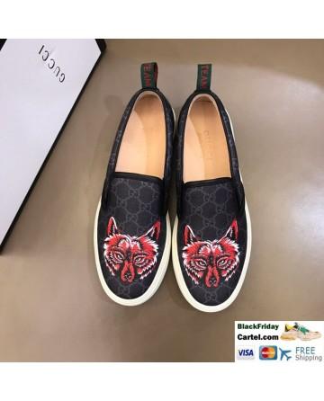 Hight Quality Gucci 2019 New Men's Black Lazy Shoes