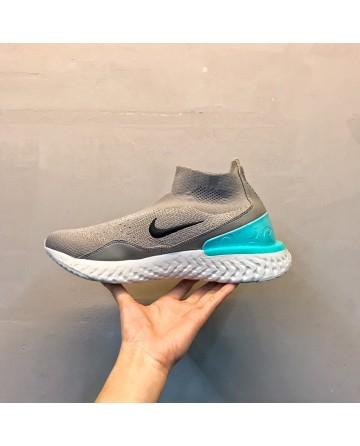 Replica Nike Epic React Flyknit Light Grey Sock Shoes