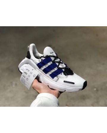 Replica Adidas Yeezy Boost 600 White & Blue Stripe Shoes