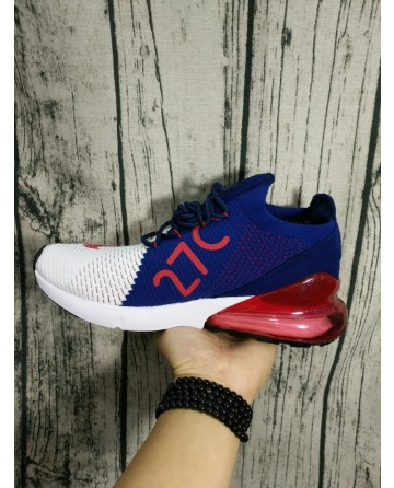 Replica High Quality Nike Air Max 27C Weave Red&White&Blue Shoes